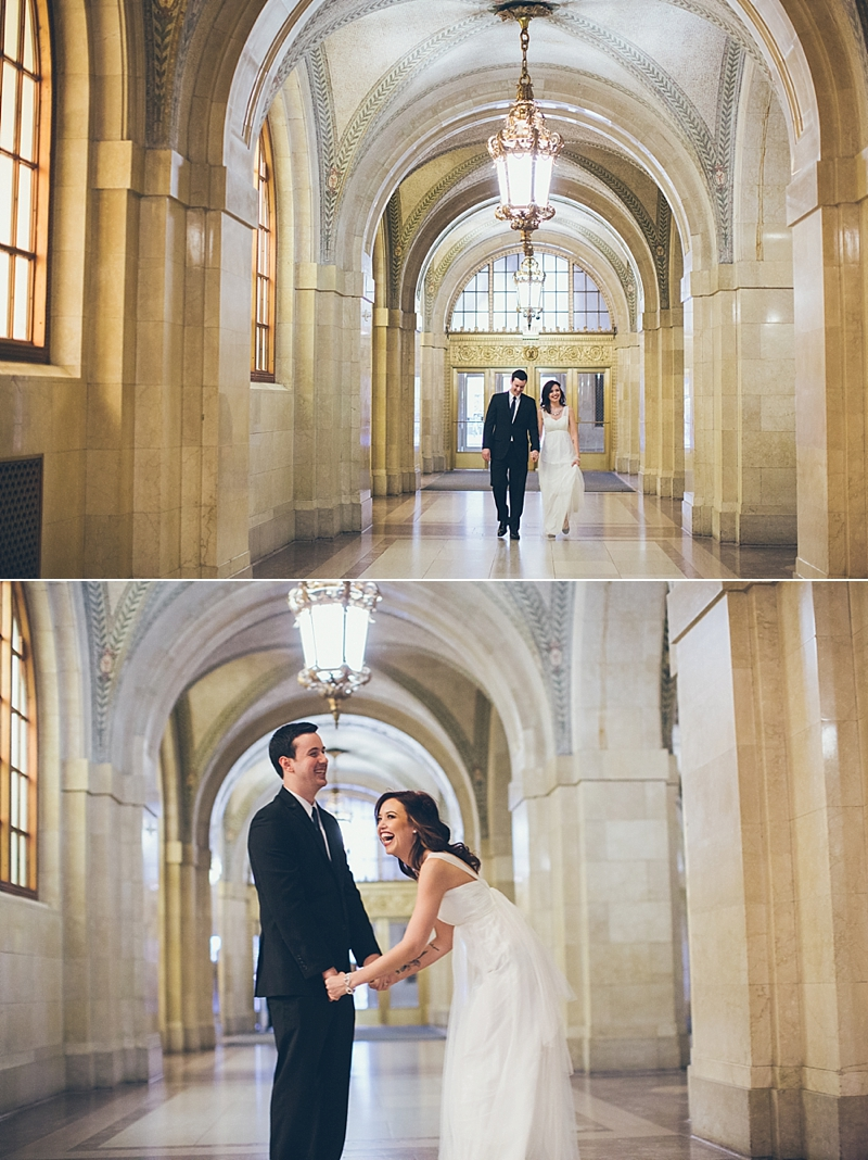 {Natalie+Steve: New Year's Eve City Hall Elopement}