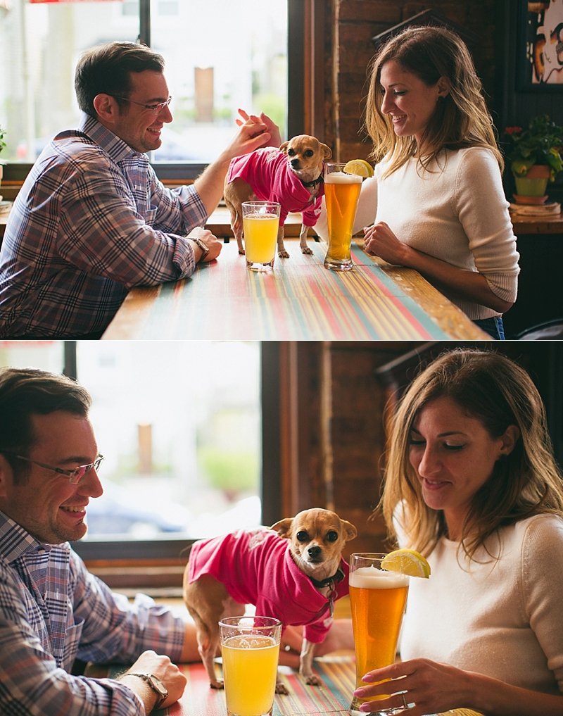 Chicago Spring Engagement Bar Pet Chihuahua- 027