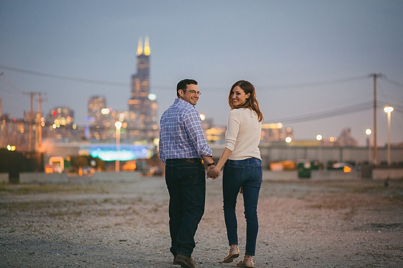 Chicago Spring Engagement Night Photos- 031