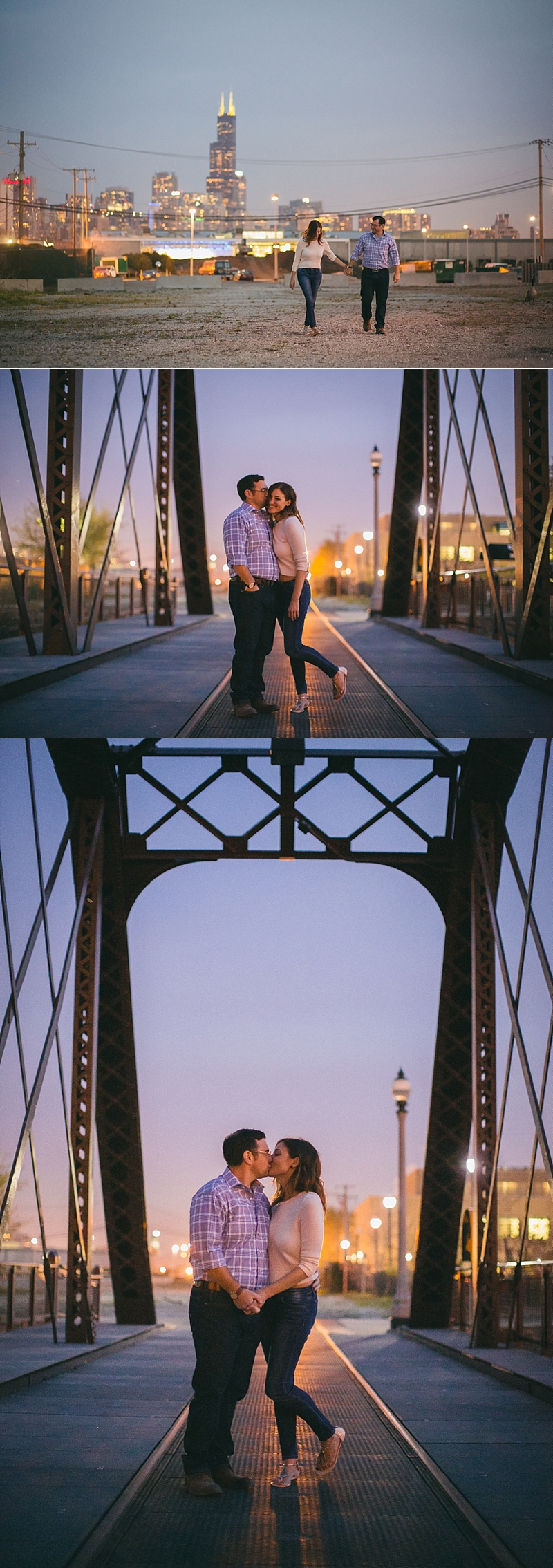 Chicago Spring Engagement Night Photos- 032