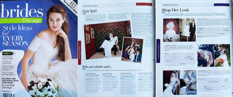 "I'm in ""Bride's Chicago Magazine,"" Woohoo!"